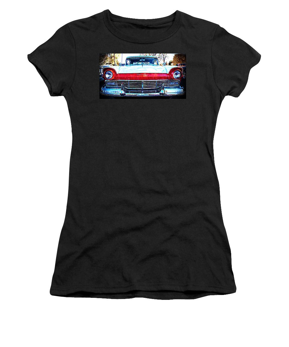 1957 Women's T-Shirt (Athletic Fit) featuring the photograph 1957 Ford Fairlane by Bill Cannon