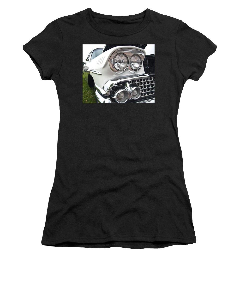 1958 Chevrolet Delray Women's T-Shirt (Athletic Fit) featuring the photograph 1958 Chevrolet Delray by Glenn Gordon