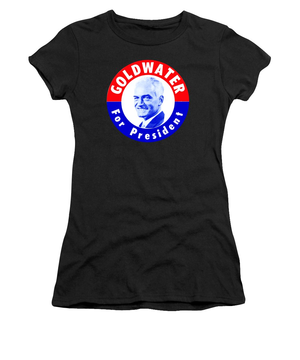 Historicimage Women's T-Shirt featuring the painting 1964 Goldwater For President by Historic Image