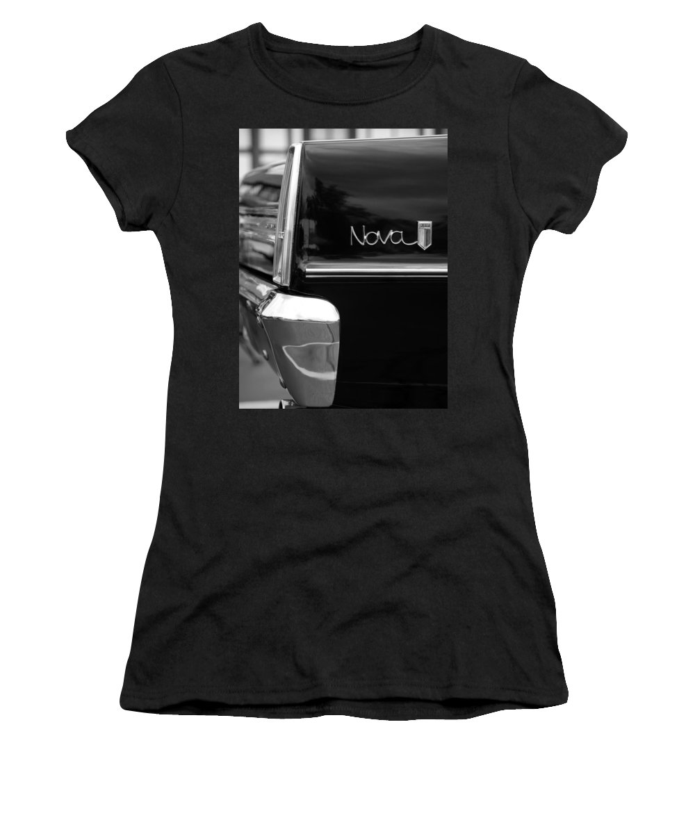 Chevy Women's T-Shirt (Athletic Fit) featuring the photograph 1966 Chevy Nova II by Gordon Dean II