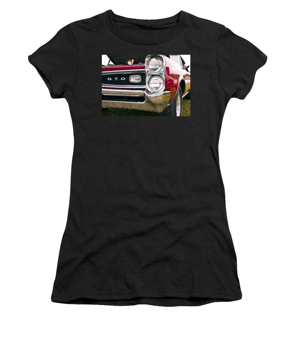 1966 Pontiac Gto Women's T-Shirt featuring the photograph 1966 Pontiac Gto Grill by Glenn Gordon