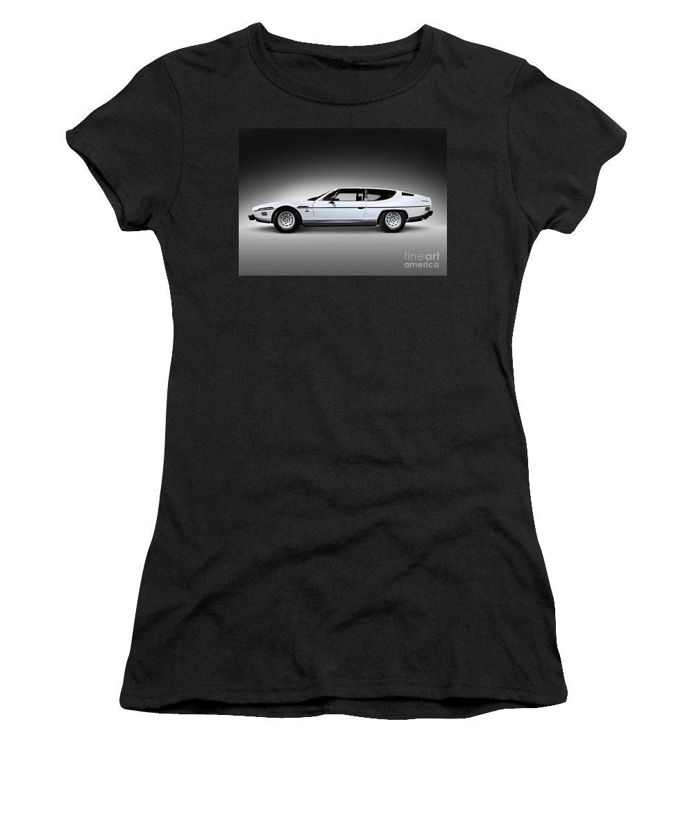 Lamborghini Women's T-Shirt featuring the photograph 1968 Lamborghini Espada by Oleksiy Maksymenko