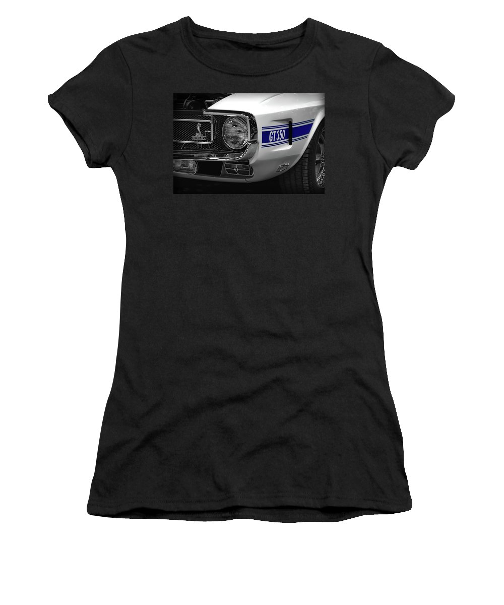1970 Women's T-Shirt (Athletic Fit) featuring the photograph 1969 Ford Mustang Shelby Gt350 1970 by Gordon Dean II
