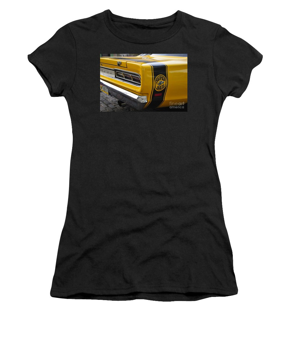 Dodge Charger Super Bee Women's T-Shirt (Athletic Fit) featuring the photograph 1969 Super Bee by David Lee Thompson