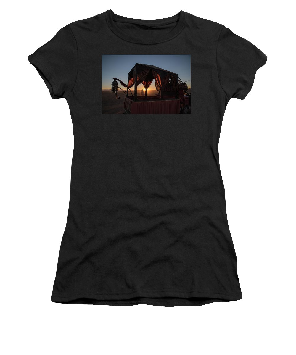 Afrika Burn Women's T-Shirt (Athletic Fit) featuring the photograph Amazing Tankwa Sunset by Gareth Pickering