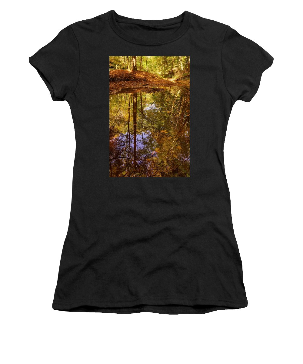 Bach Hollow Women's T-Shirt (Athletic Fit) featuring the photograph Bach Hollow by David Kelso