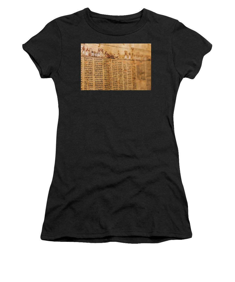 Cult Women's T-Shirt (Athletic Fit) featuring the photograph Book Of The Dead by Paolo Modena