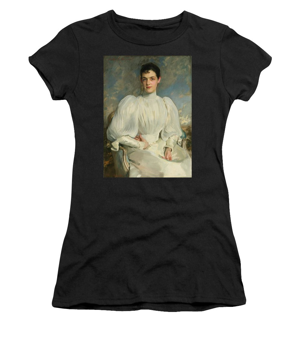 John Singer Sargent 1856 - 1925 Elsie Wagg Women's T-Shirt (Athletic Fit) featuring the painting Elsie Wagg by John Singer