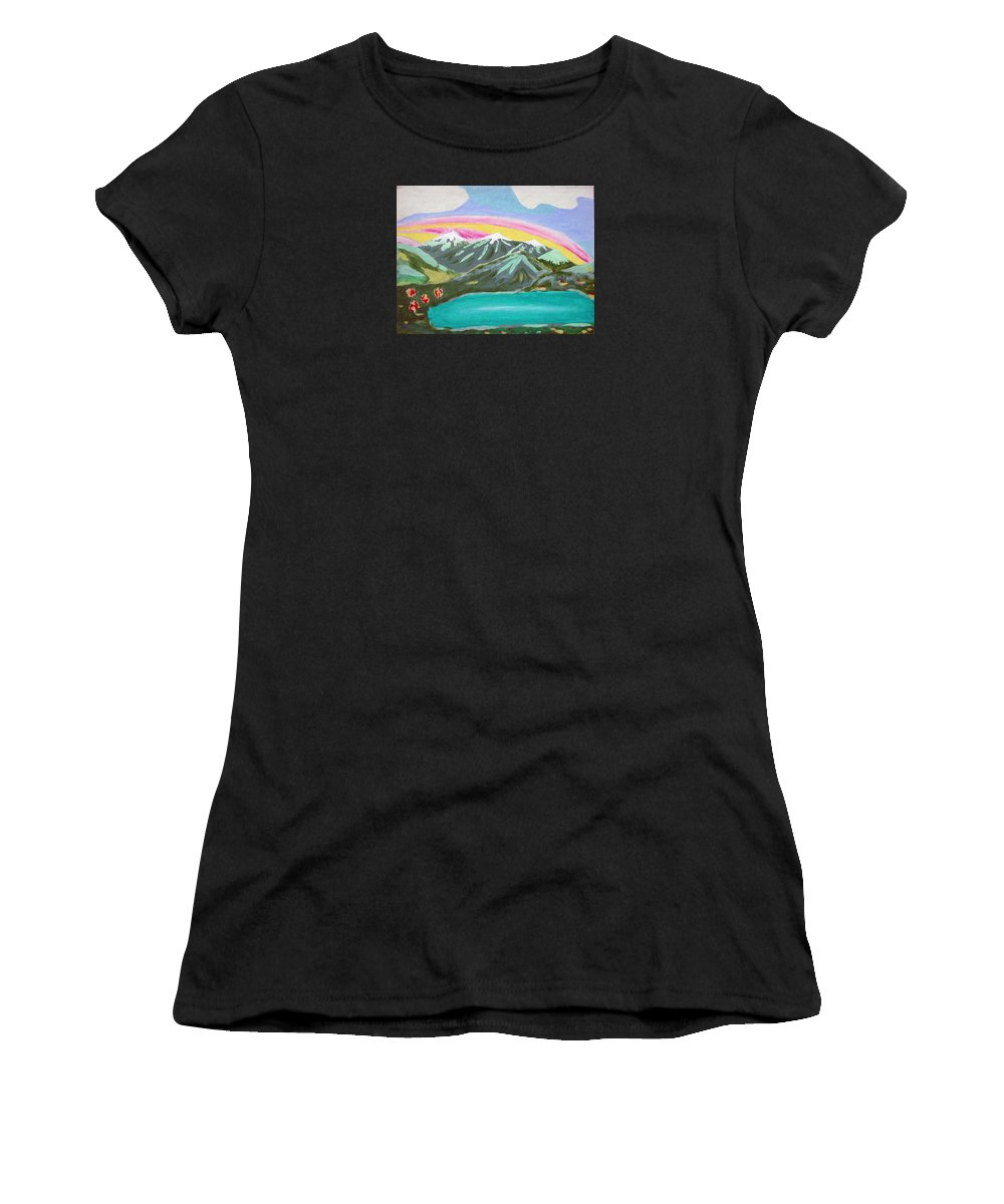 Impressionist Painting Women's T-Shirt (Athletic Fit) featuring the painting From The Mountains To The Sea by J R Seymour