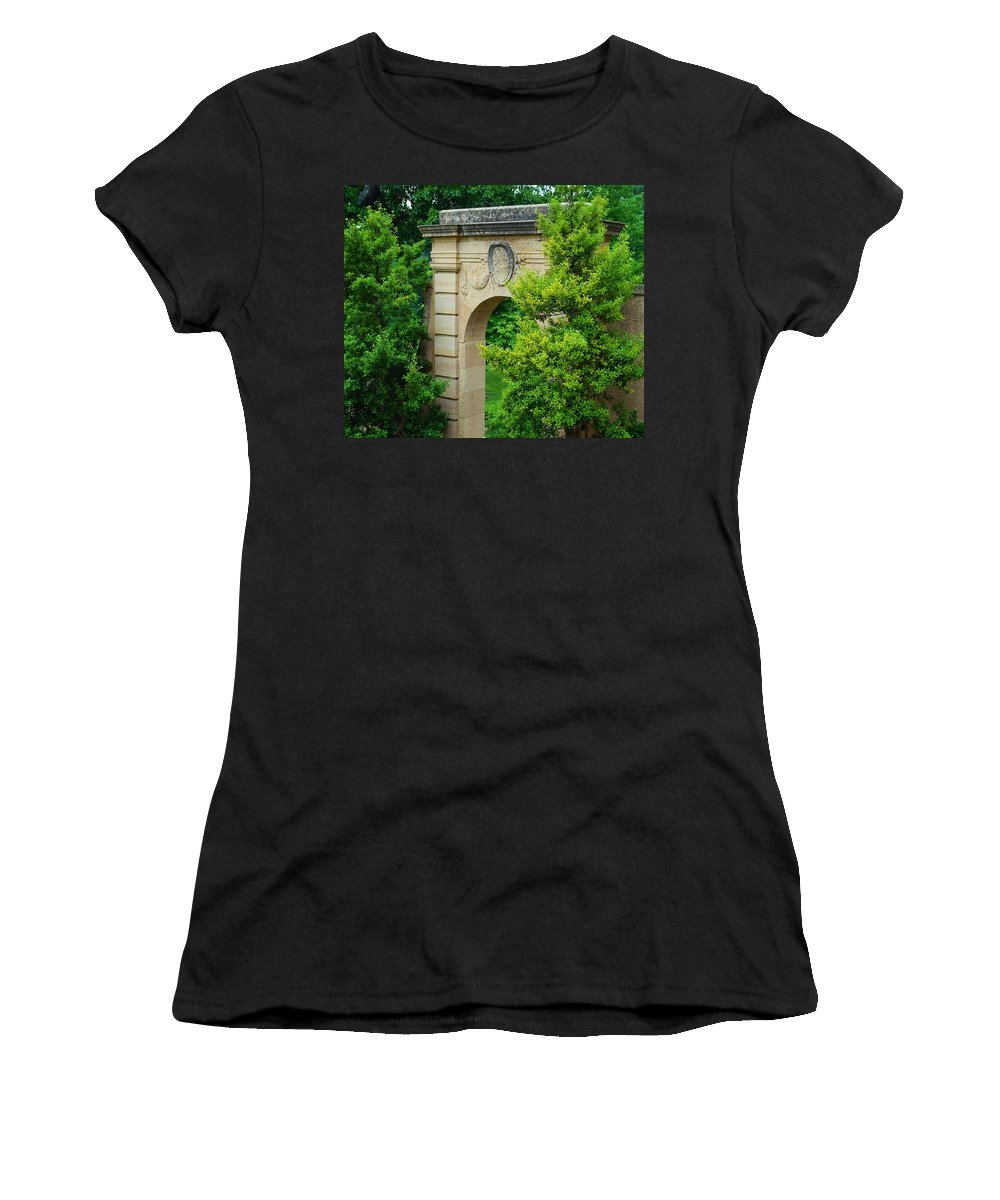 Philbrook Gardens Women's T-Shirt (Athletic Fit) featuring the photograph Gardens by Linda Cupps
