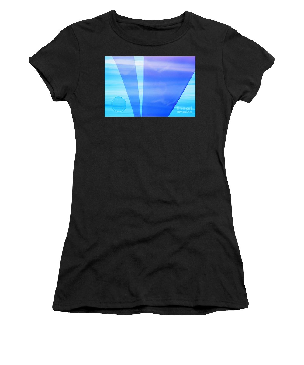 Art Deco Women's T-Shirt (Athletic Fit) featuring the photograph Illuminations 99 by Barbara Chase