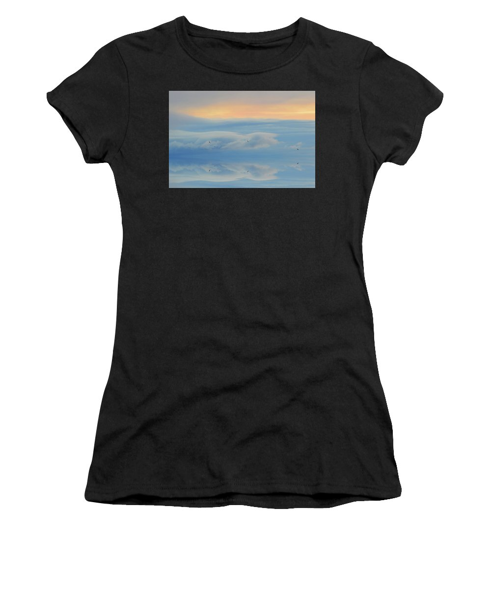 Abstract Women's T-Shirt (Athletic Fit) featuring the digital art In Flight Two by Lyle Crump