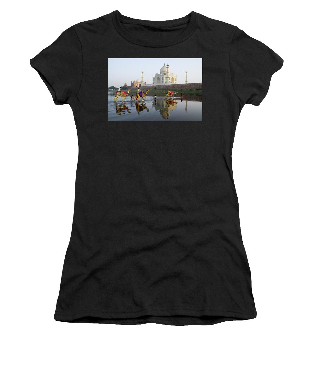 Taj Mahal Women's T-Shirt (Athletic Fit) featuring the photograph India's Taj Mahal by Michele Burgess