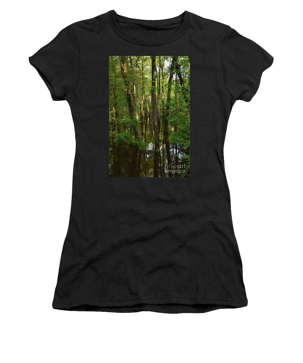 Scenic Tours Women's T-Shirt (Athletic Fit) featuring the photograph Morning Light by Skip Willits