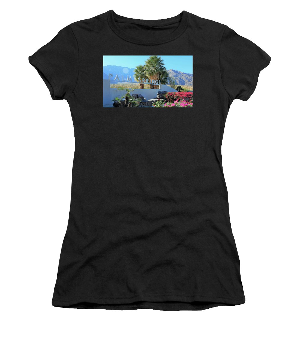 Palm Springs Women's T-Shirt featuring the photograph Palm Springs Welcome by Lisa Dunn