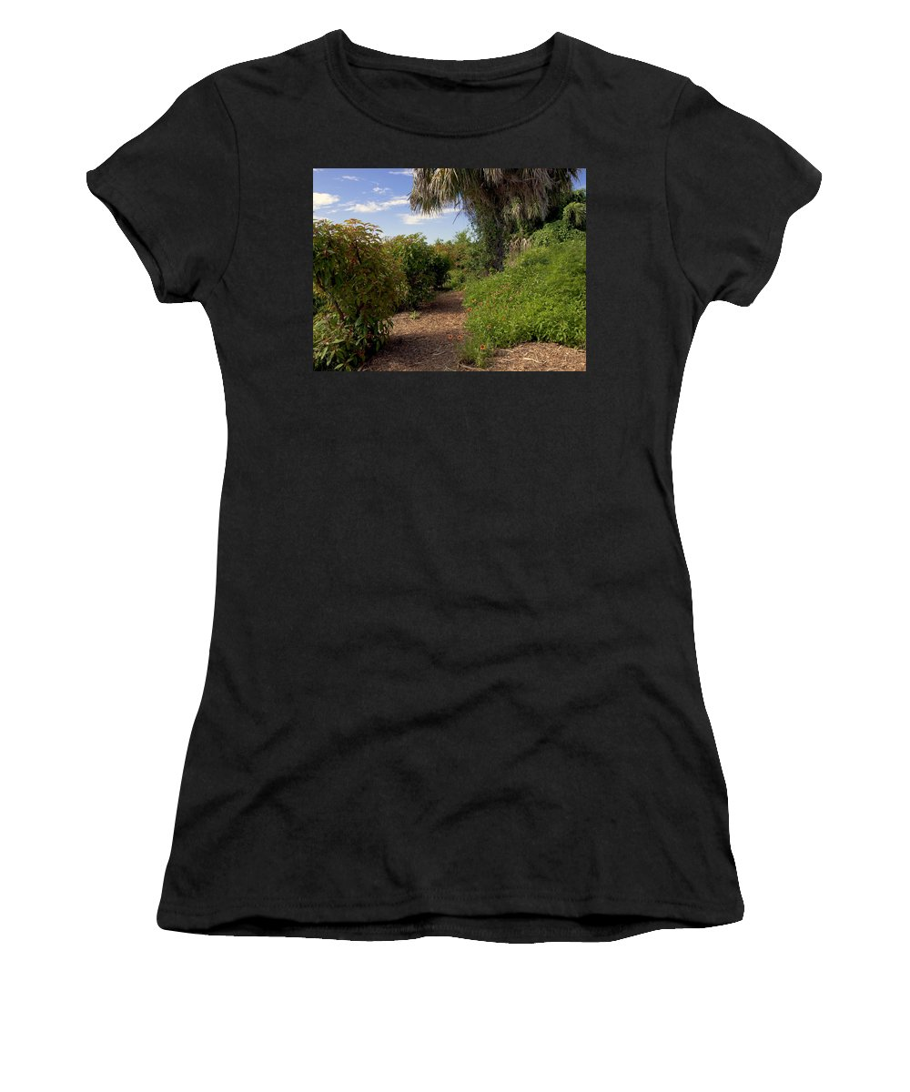 Florida Women's T-Shirt (Athletic Fit) featuring the photograph Pelican Island In Florida by Allan Hughes