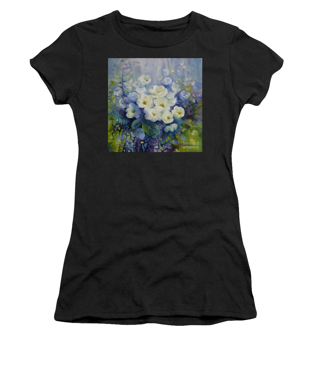 Primrose Women's T-Shirt (Athletic Fit) featuring the painting Spring by Elena Oleniuc