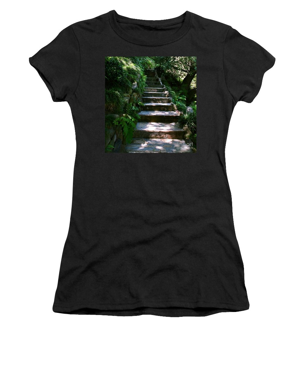 Nature Women's T-Shirt featuring the photograph Stone Steps by Dean Triolo
