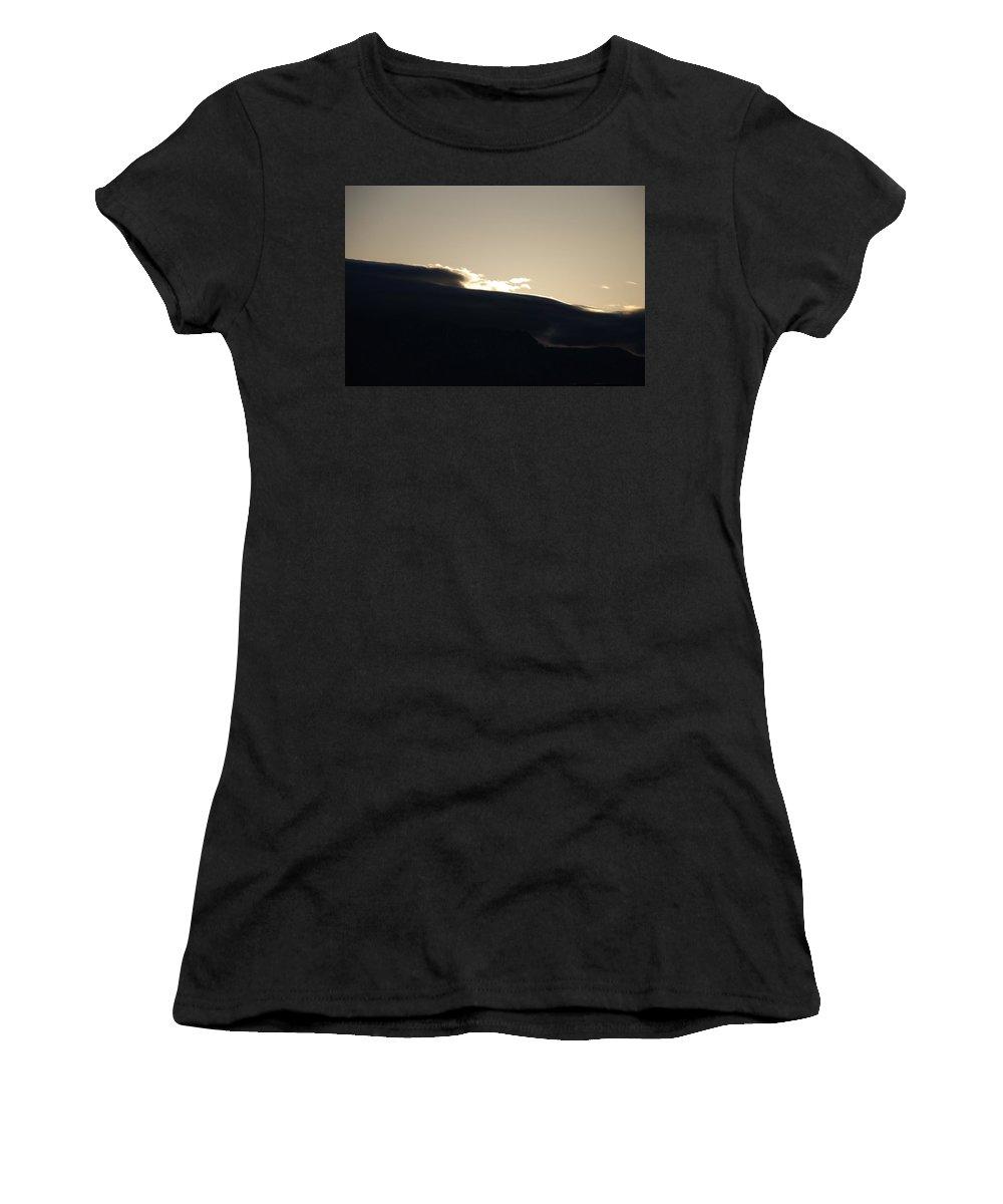 Sunrise Women's T-Shirt featuring the photograph Sunrise Over The Sandias by Rob Hans