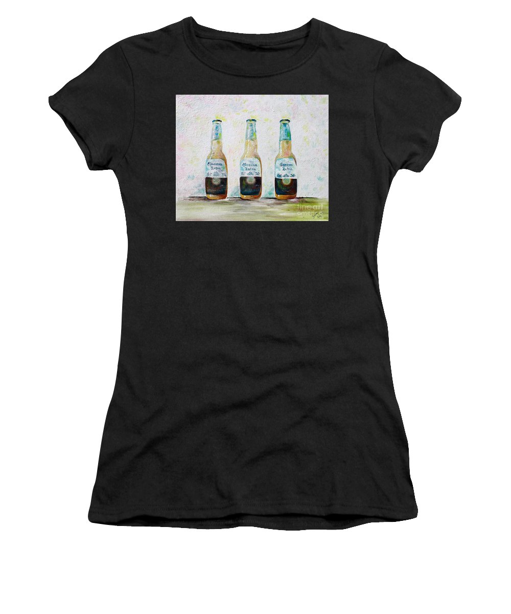 Beer Women's T-Shirt (Athletic Fit) featuring the painting Three Amigos by Barbara Teller