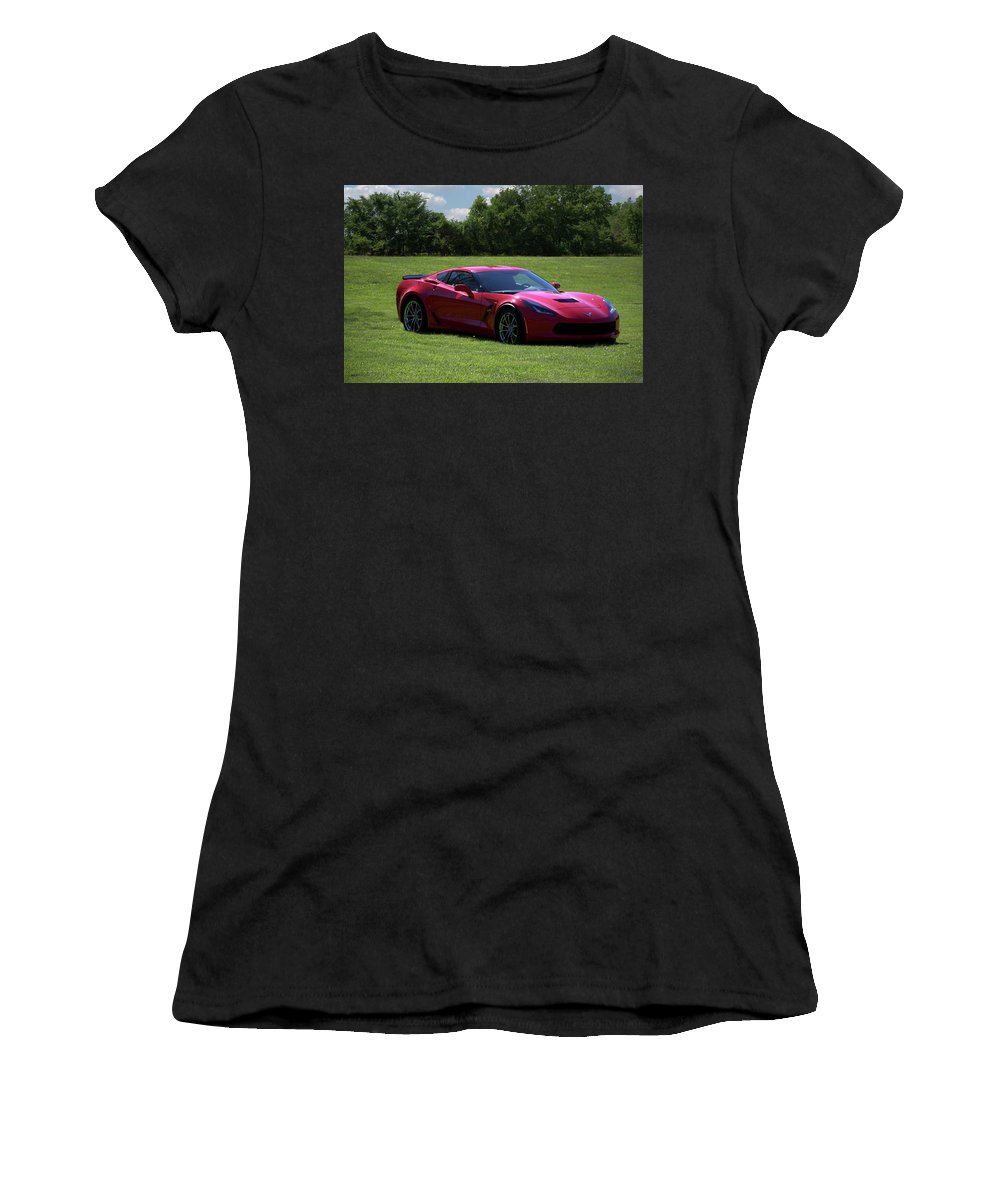 2017 Women's T-Shirt (Athletic Fit) featuring the photograph 2017 Corvette by Tim McCullough