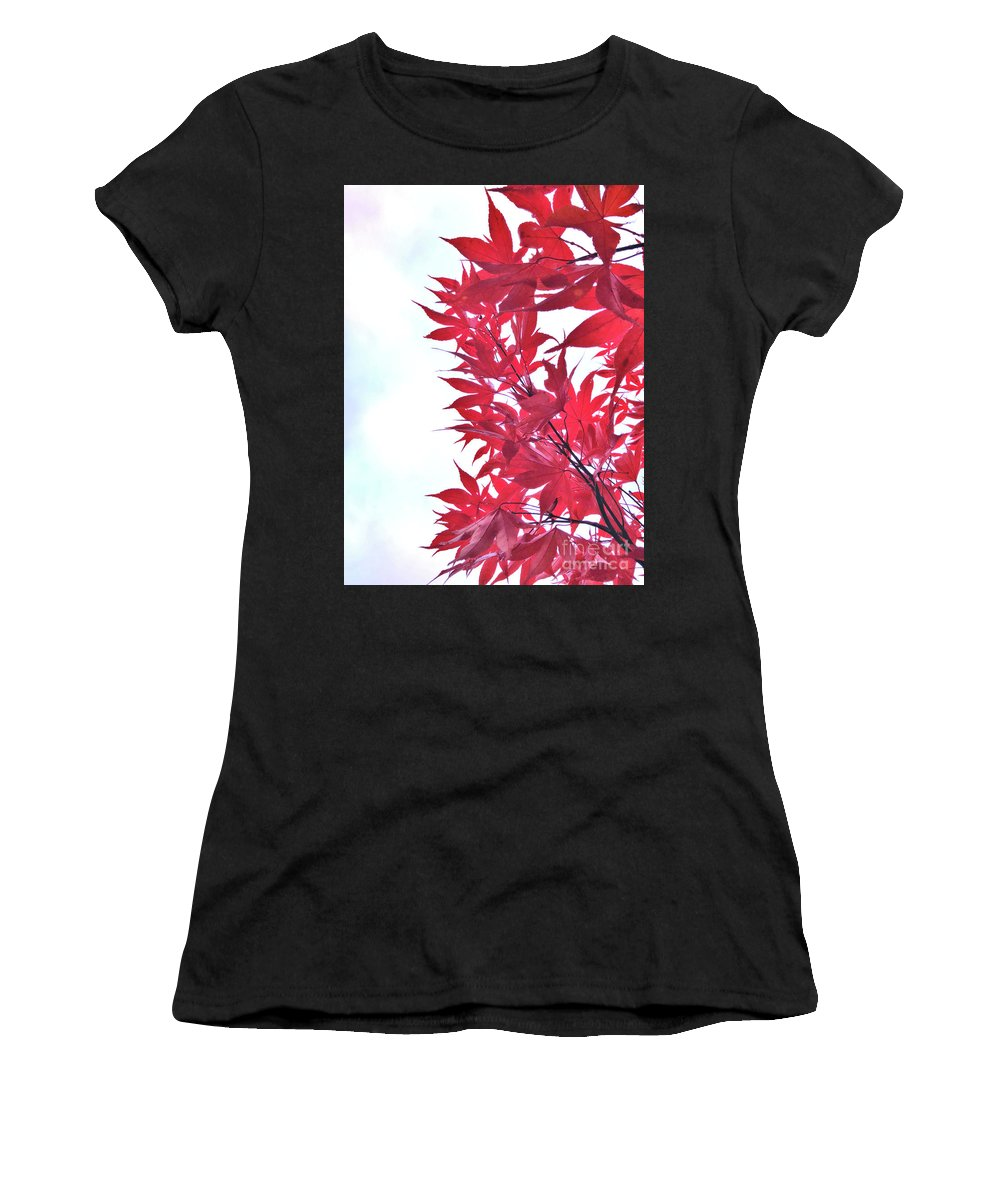 Autumn Women's T-Shirt (Athletic Fit) featuring the photograph 2017 Red Maple 3 by Victor K