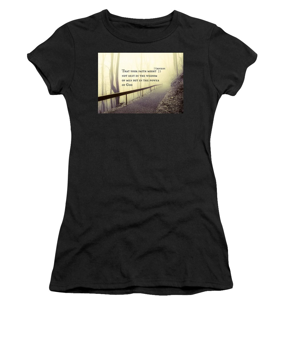 Women's T-Shirt featuring the photograph 2018-8q by David Norman