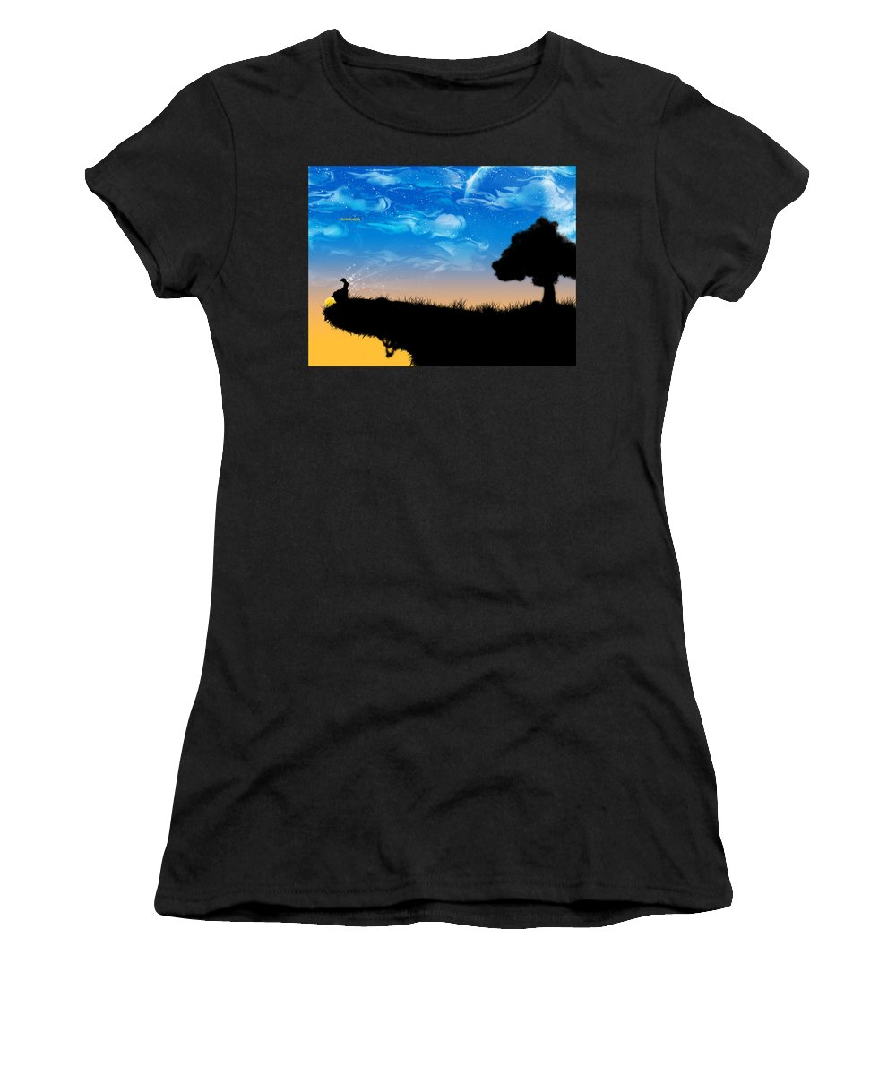Nature Women's T-Shirt (Athletic Fit) featuring the digital art Nature by Mery Moon