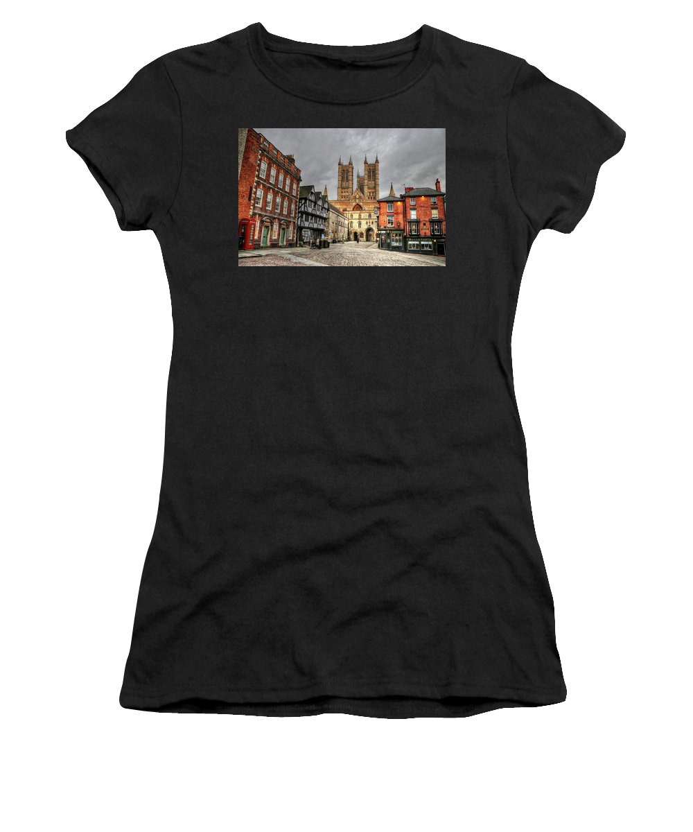 Lincoln England United Kingdom Uk Women's T-Shirt (Athletic Fit) featuring the photograph Lincoln England United Kingdom Uk by Paul James Bannerman