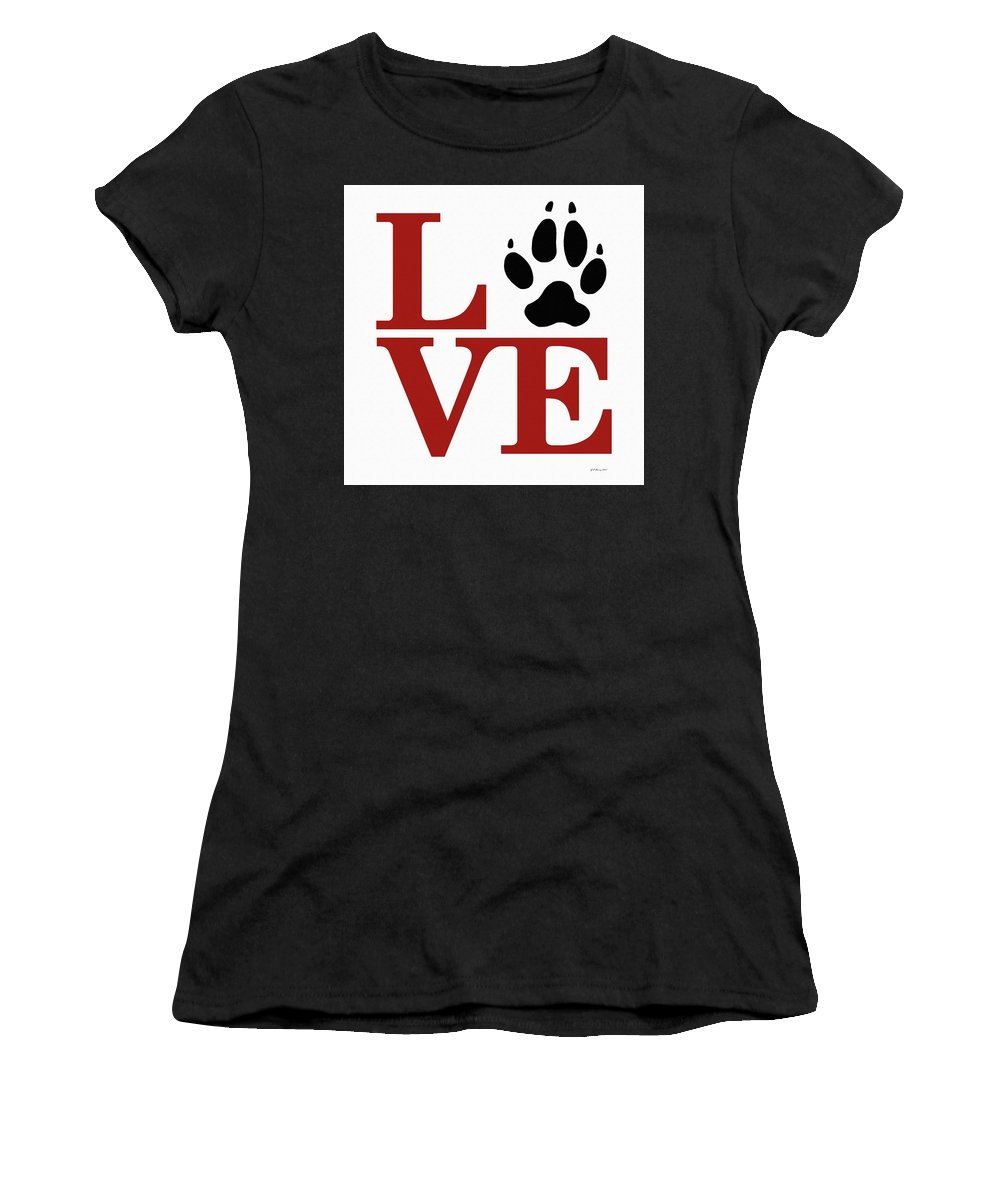 Love Women's T-Shirt (Athletic Fit) featuring the digital art Love Claw Paw Sign by Gregory Murray