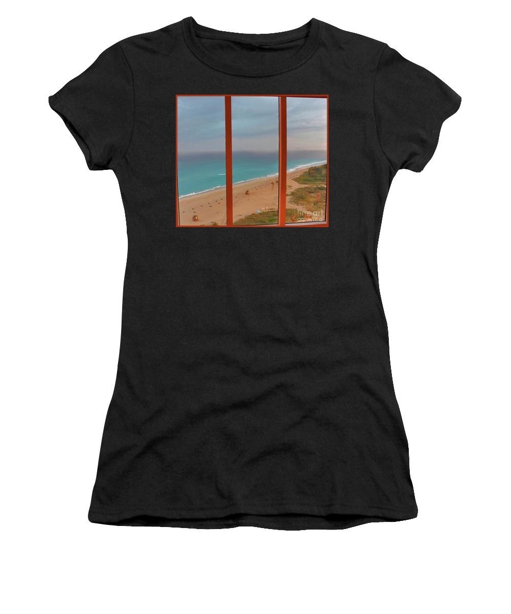 Windows Women's T-Shirt (Athletic Fit) featuring the photograph 22- Windows On Paradise by Joseph Keane