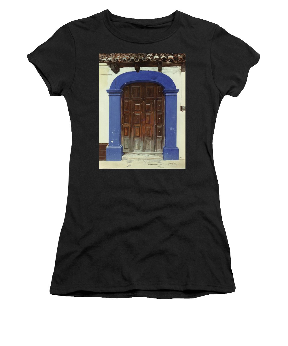 Hyperrealism Women's T-Shirt (Athletic Fit) featuring the painting 2222 by Michael Earney