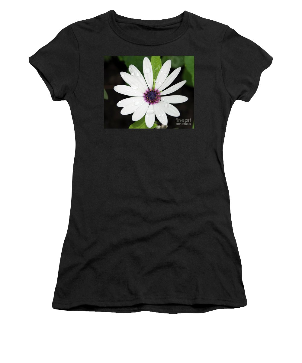 Flowers Women's T-Shirt featuring the photograph White Flower by Elvira Ladocki