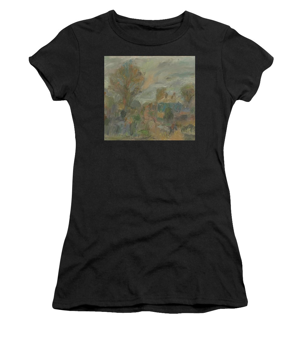 Street Women's T-Shirt featuring the painting Landscape by Robert Nizamov