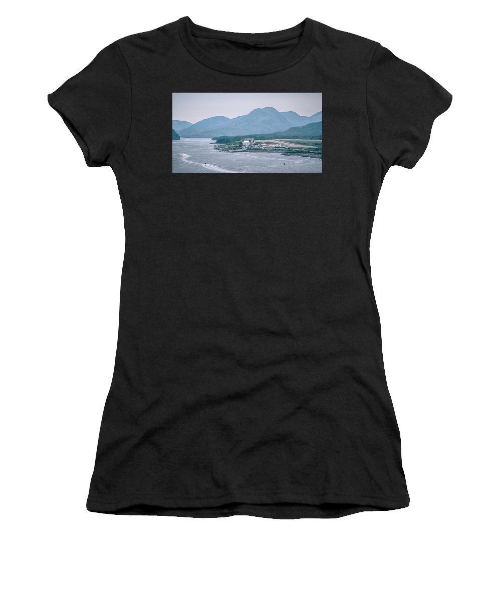 City Women's T-Shirt featuring the photograph Scenery Around Alaskan Town Of Ketchikan by Alex Grichenko
