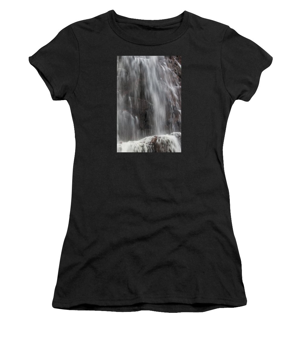 Water Women's T-Shirt (Athletic Fit) featuring the photograph Waterfall by Borje Olsson