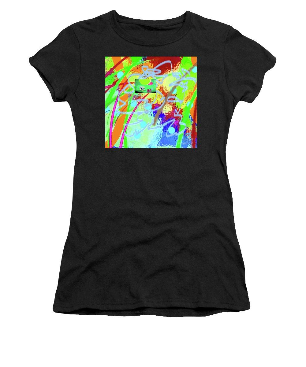 Walter Paul Bebirian Women's T-Shirt (Athletic Fit) featuring the digital art 3-10-2015dabcdefghijklmnopqr by Walter Paul Bebirian