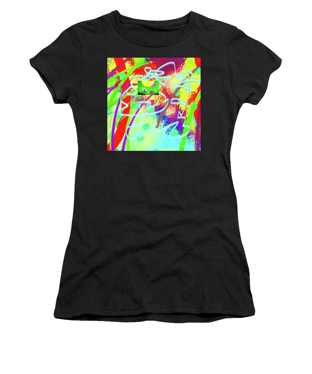Walter Paul Bebirian Women's T-Shirt (Athletic Fit) featuring the digital art 3-10-2015dabcdefghijklmnopqrtuv by Walter Paul Bebirian