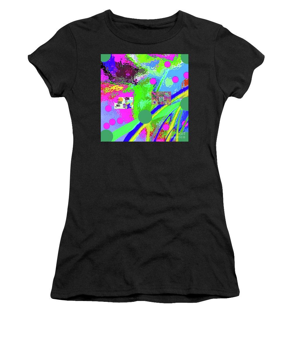 Walter Paul Bebirian Women's T-Shirt featuring the digital art 3-13-2015labcdefghijklmnopqrtuvwxyzabcde by Walter Paul Bebirian