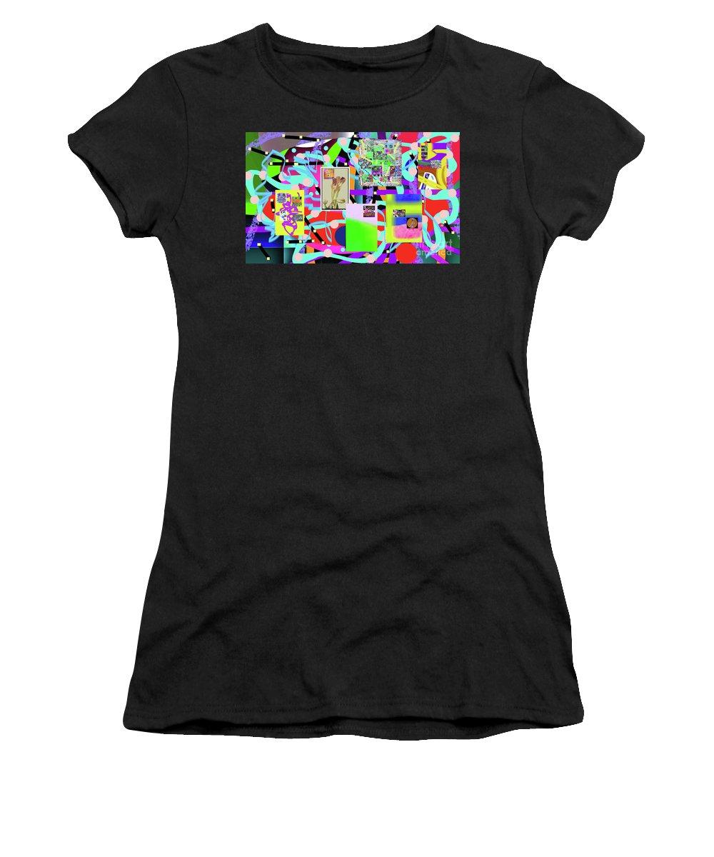 Walter Paul Bebirian Women's T-Shirt (Athletic Fit) featuring the digital art 3-3-2016abcdefghijklmnopqrtuvwxyz by Walter Paul Bebirian