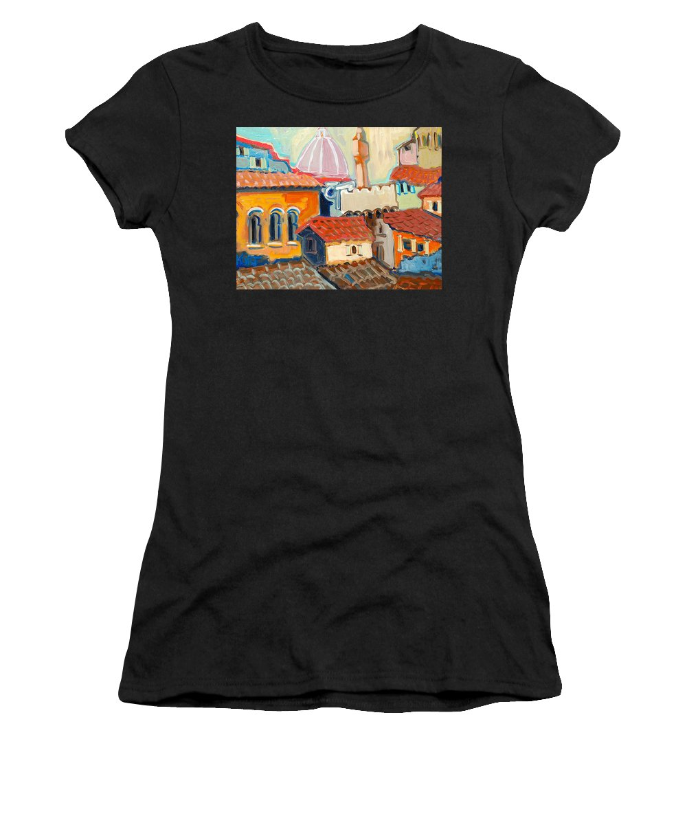 Italy Women's T-Shirt featuring the painting Florence by Kurt Hausmann