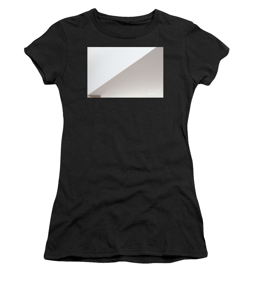 Abstract Women's T-Shirt featuring the photograph Geometric Shapes With Light And Shadow by Jim Corwin
