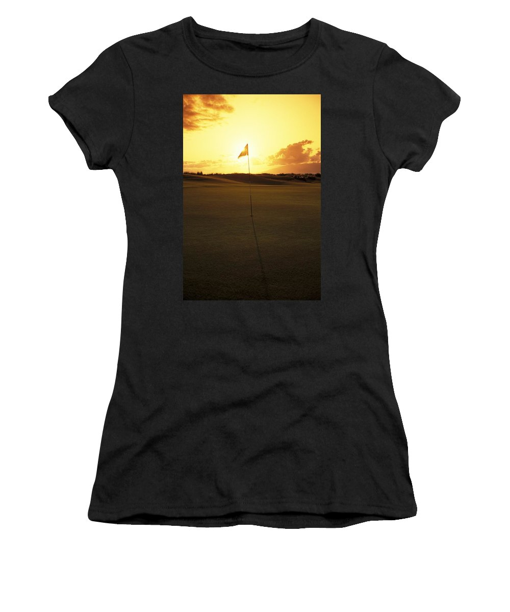 4th Women's T-Shirt (Athletic Fit) featuring the photograph Kapalua Golf Club by Carl Shaneff - Printscapes