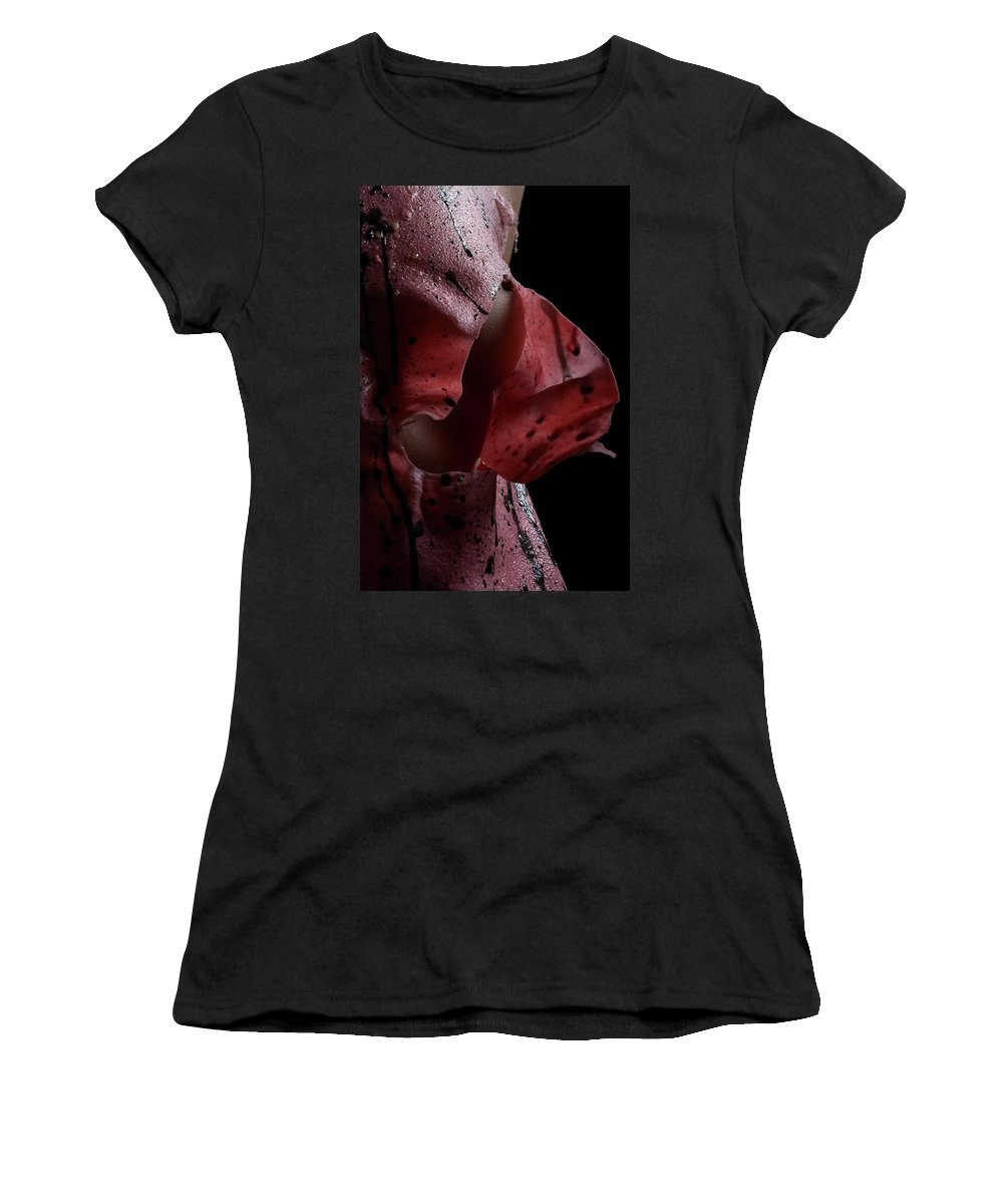 Nude Women's T-Shirt (Athletic Fit) featuring the photograph Liquid Latex by Pavel Jelinek