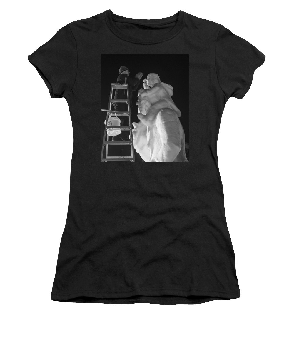 Mccall Women's T-Shirt (Athletic Fit) featuring the photograph Nanook by Angus Hooper Iii