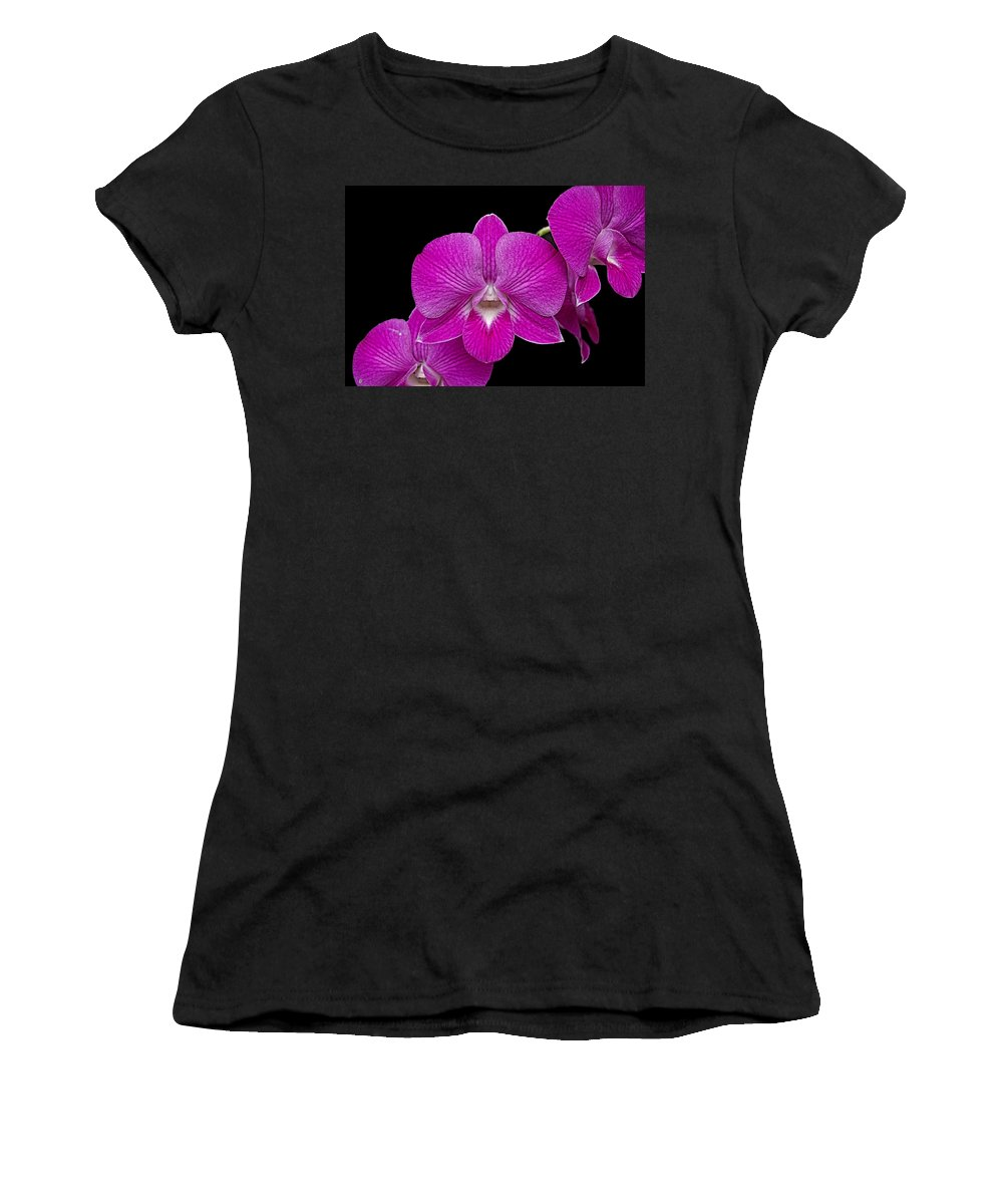 Orchid Women's T-Shirt (Athletic Fit) featuring the photograph Orchid by Galeria Trompiz