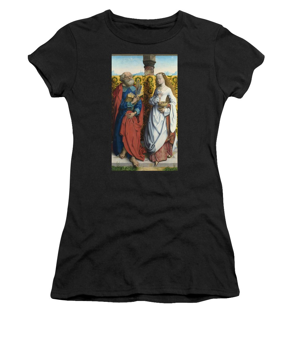 Master Women's T-Shirt (Athletic Fit) featuring the digital art Saints Peter And Dorothy by PixBreak Art