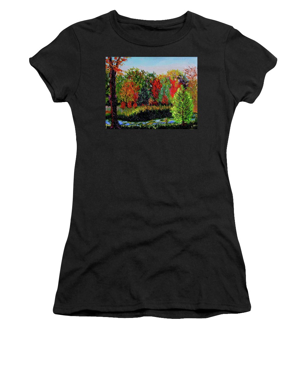 Plein Air Women's T-Shirt (Athletic Fit) featuring the painting Sewp 10 10 by Stan Hamilton