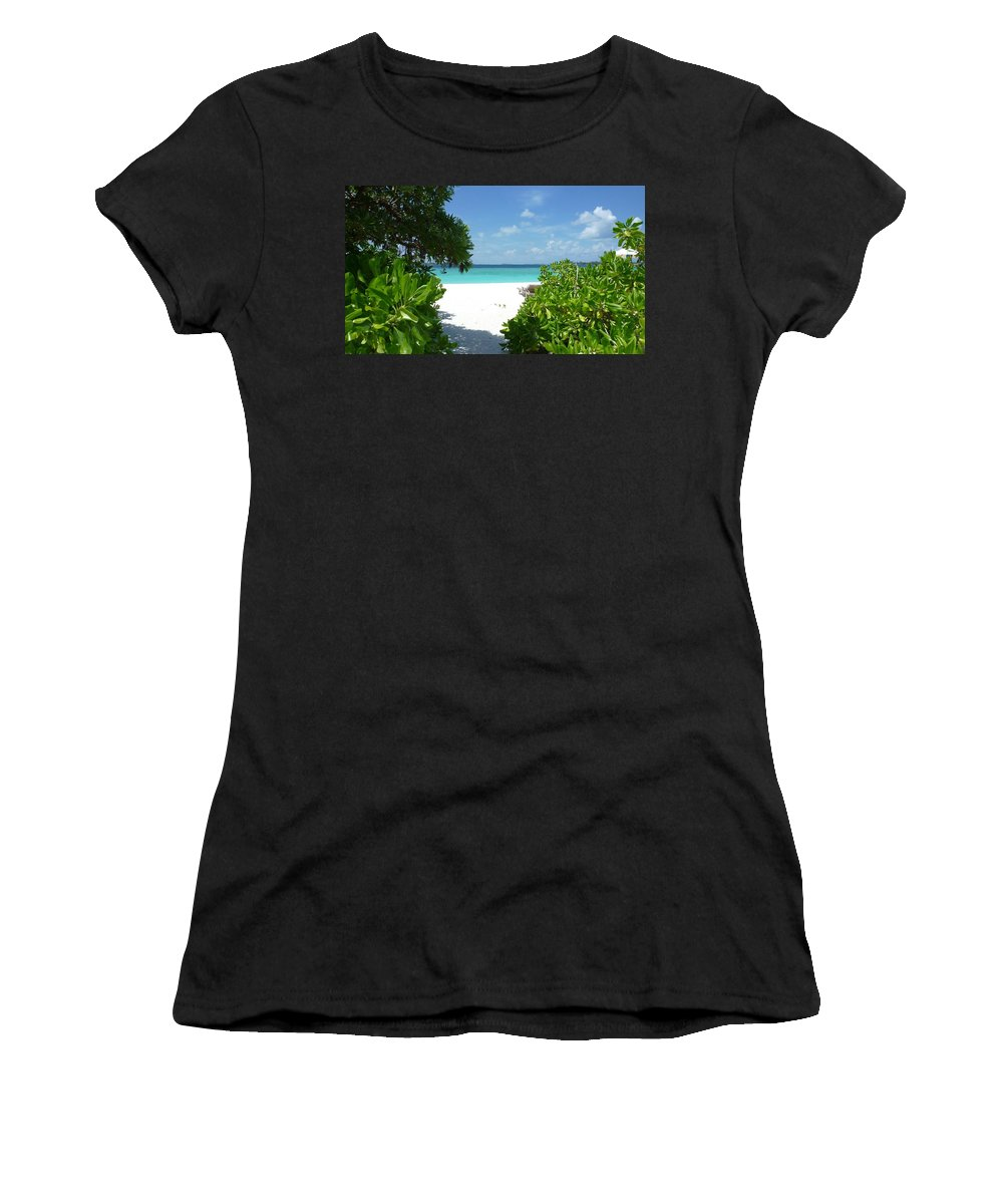 Beach Women's T-Shirt (Athletic Fit) featuring the photograph The Beach by FL collection