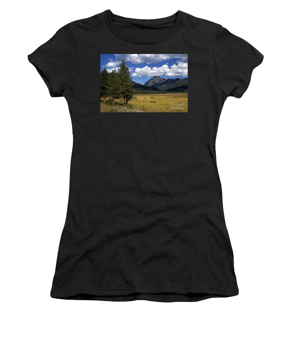 Yellowstone National Park Women's T-Shirt featuring the photograph Yellowstone Vista by Marty Koch